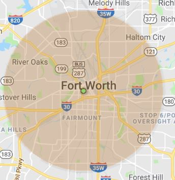 Ft Worth wireless Internet coverage map