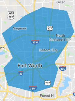 Fort Worth wireless Internet coverage map